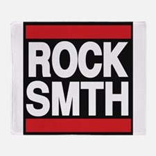 rock smth red Throw Blanket
