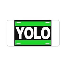 yolo1 green Aluminum License Plate