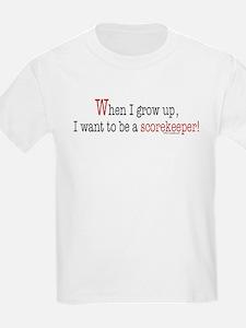... a scorekeeper Kids T-Shirt