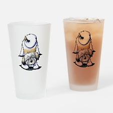 Playful Havanese Drinking Glass