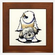Playful Havanese Framed Tile