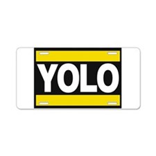 yolo1 yellow Aluminum License Plate