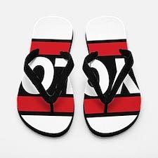 yolo1 red Flip Flops