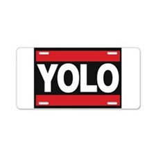 yolo1 red Aluminum License Plate