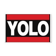 yolo1 red Rectangle Car Magnet