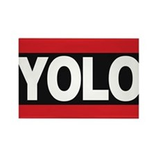 yolo1 red Rectangle Magnet