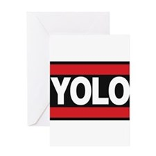 yolo1 red Greeting Card