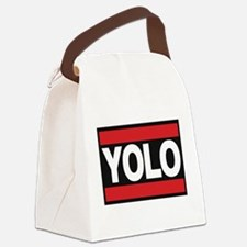 yolo1 red Canvas Lunch Bag