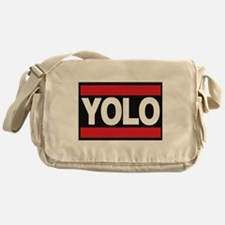 yolo1 red Messenger Bag