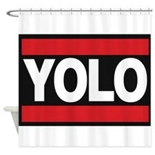 yolo1 red Shower Curtain
