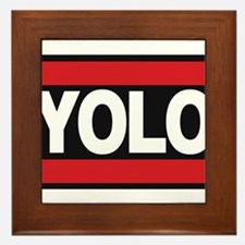 yolo1 red Framed Tile