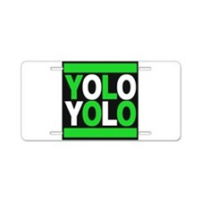 yolo2 green Aluminum License Plate