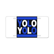 yolo2 blue Aluminum License Plate