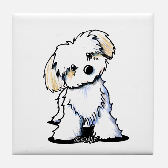 Havanese Sweetie Tile Coaster