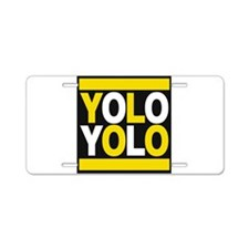 yolo2 yellow Aluminum License Plate