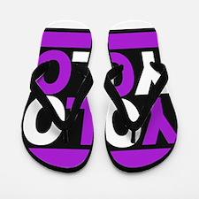 yolo2 purple Flip Flops