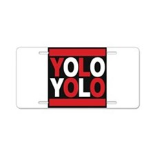 yolo2 red Aluminum License Plate