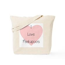 I Love Peekapoos (2) Tote Bag