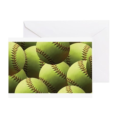 Softball Wallpaper Greeting Card