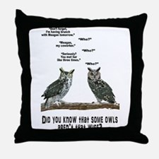 Not So Wise Old Owls Throw Pillow