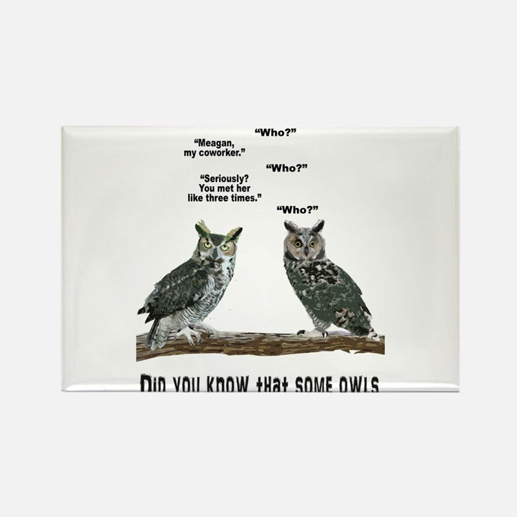 Not So Wise Old Owls Rectangle Magnet