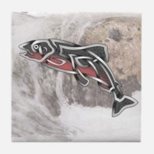 Salmon Tile Coaster
