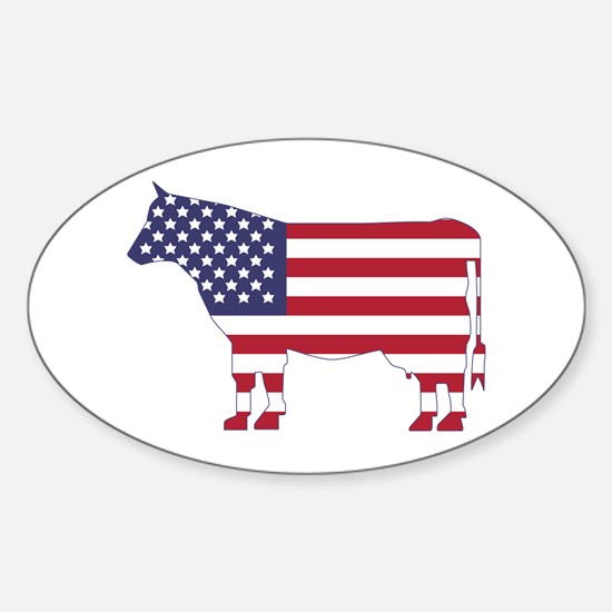 US Flag Cow Icon Decal