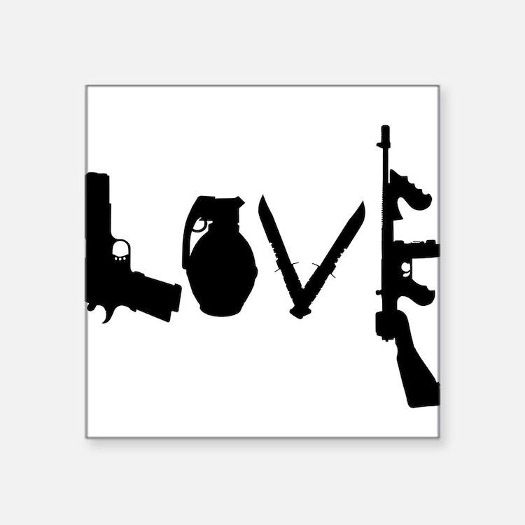 Love Weapons Sticker