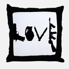 Love Weapons Throw Pillow