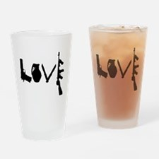 Love Weapons Drinking Glass