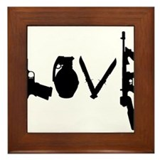 Love Weapons Framed Tile