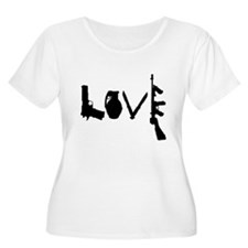 Love Weapons Plus Size T-Shirt
