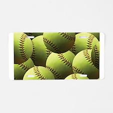 Softball Wallpaper Aluminum License Plate