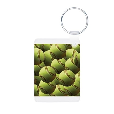 Softball Wallpaper Keychains