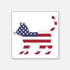 US Flag Cat Icon Sticker