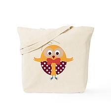 Folk Art Owl Tote Bag
