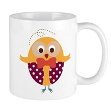 Folk Art Owl Small Mug