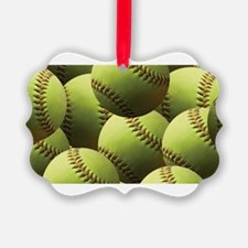 Softball Wallpaper Ornament