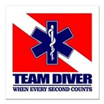 ERT Team Diver Square Car Magnet 3