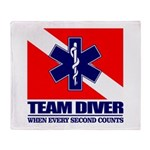 ERT Team Diver Throw Blanket