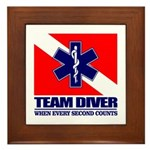 ERT Team Diver Framed Tile