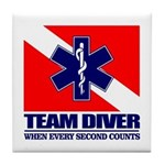 ERT Team Diver Tile Coaster