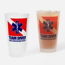 ERT Team Diver Drinking Glass