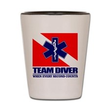 ERT Team Diver Shot Glass