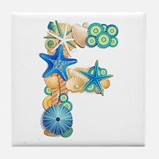 SEA INITIAL E Tile Coaster