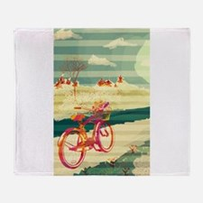 Bicycle Touring Throw Blanket