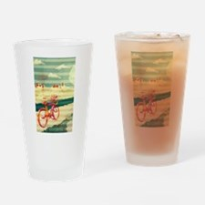 Bicycle Touring Drinking Glass