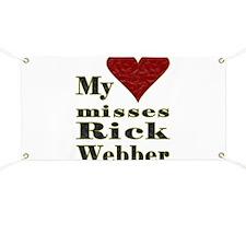 Heart Misses Rick Webber Banner