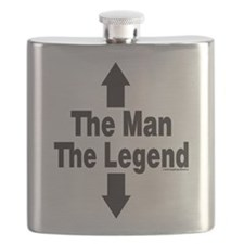 The Man The Legend Flask
