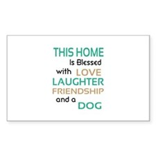 Love Laughter Friendship Dog Decal